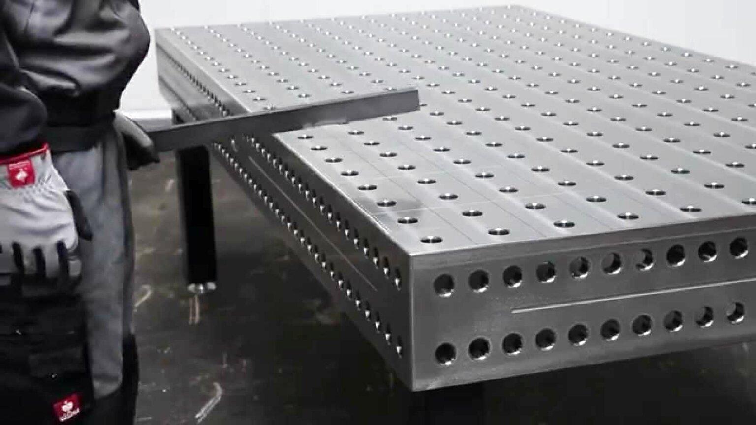 Plans Table de soudure établie de soudage fixation fichier dxf 40in x 80in soude