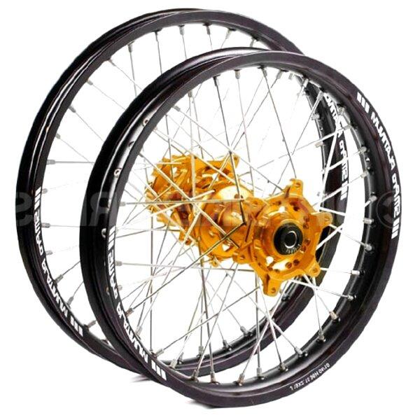 Hmparts Jantes Alu Anodis/é 14 Pouces Arri/ère Noir 12 mm Typ2 Pit Bike Dirt Bike Traverser