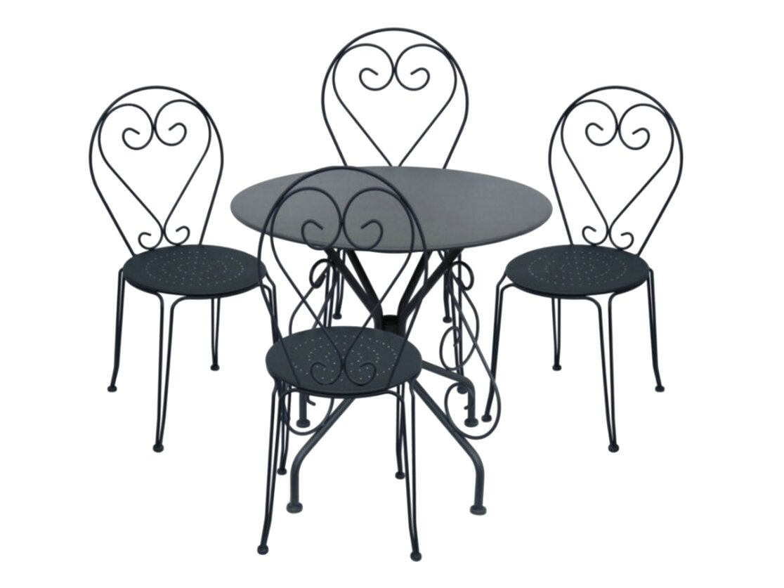 Table fer forge 4 chaises 2 fauteuils d 39 occasion en - Table de jardin en fer forge occasion ...